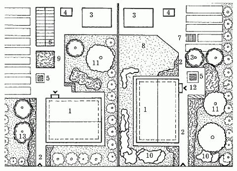 теплица (на схеме слева);