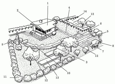 Планировка участка площадью