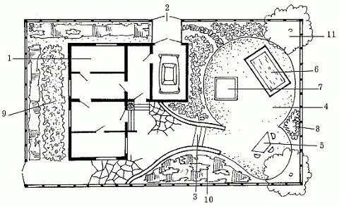 детская площадка и бассейн