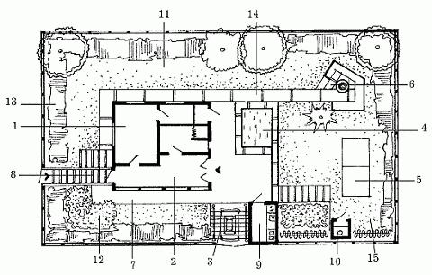План участка площадью 500 м2